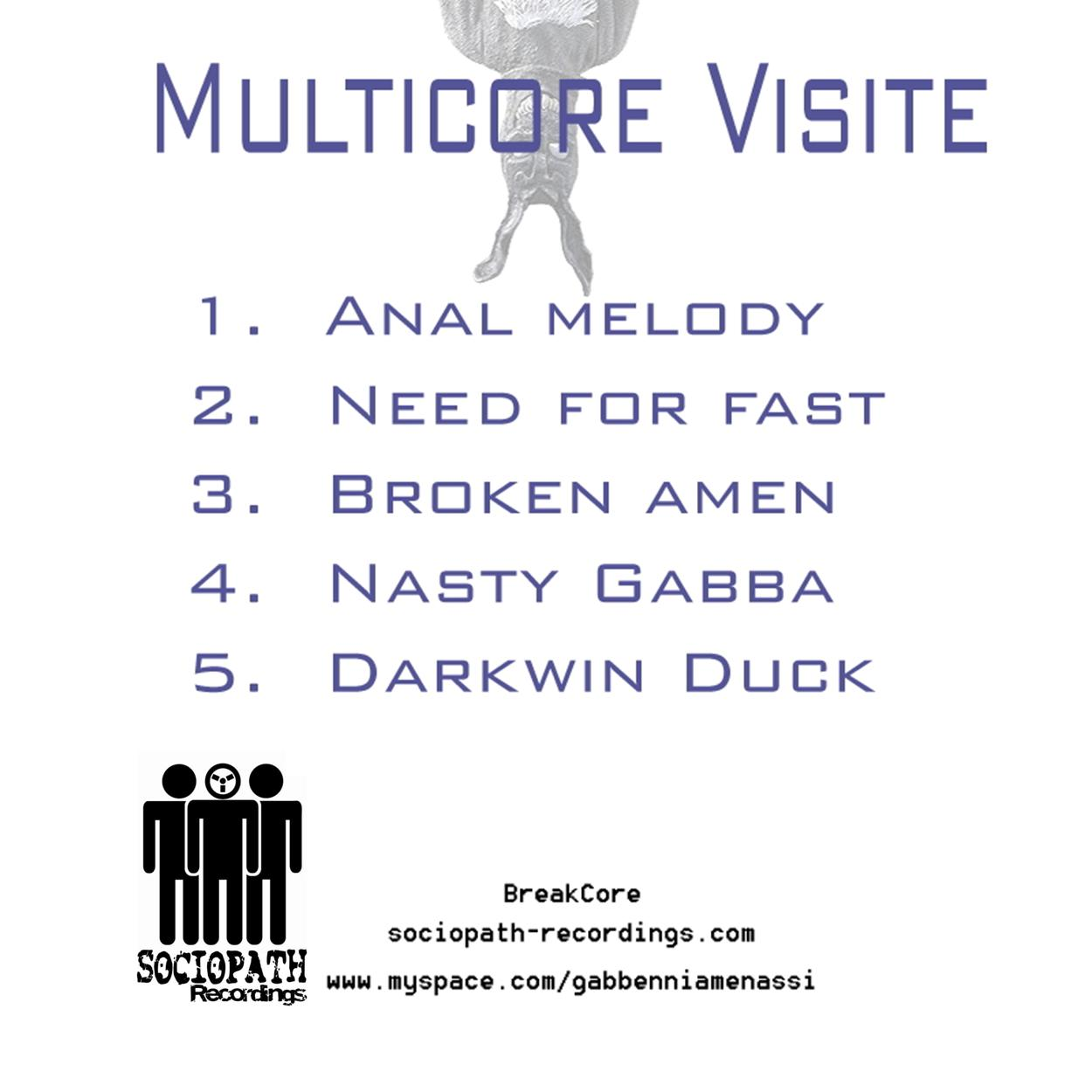 Gabbenni Amenassi - MultiCore Visite.Breakcore, MashUp, Anal melody, Need for fast, Broken amen, Nasty Gabba, Darkwin Duck