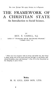 Framework Of A Christian State Rev Cahill SJ Catholic ...