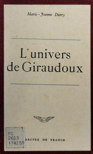 Cover of: L'univers de Giraudoux | Marie Jeanne Durry