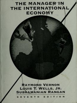 Cover of: The manager in the international economy | Raymond Vernon