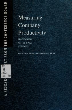 Cover of: Measuring company productivity | John W. Kendrick