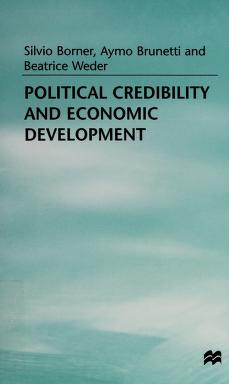 Cover of: Political credibility and economic development | Silvio Borner