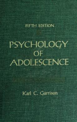 Cover of: Psychology of adolescence | Karl C. Garrison