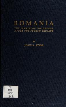 Cover of: Romania | Joshua Starr