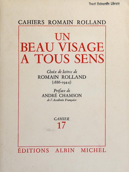 Un Beau visage à tous sens by Romain Rolland